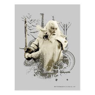 Gandalf mit Klinge-vektorcollage Postkarte