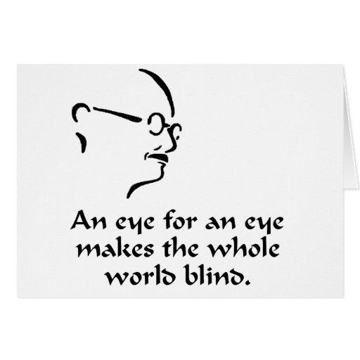 Gandhi - blind grußkarte