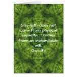 Gandhi Inspirational motivierend Zitat Grußkarte