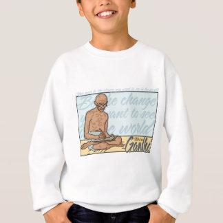Gandhi ist das Änderungs-Zitat Sweatshirt