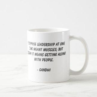Gandhi, nehme ich die bedeutete Führung auf Kaffeetasse