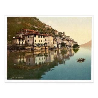 Gandria, allgemeine Ansicht, Tessin, die Schweiz Postkarte