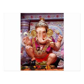 Ganesh (गणेश) - indischer Elefant-Gottheit Postkarte