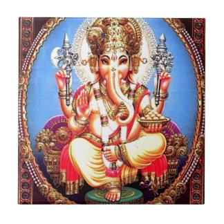 Ganesha (गणेश) indischer Elefant Kleine Quadratische Fliese