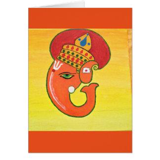 Ganesha der Entferner aller Hindernisse Grußkarte