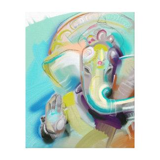 Ganesha - Elefant Buddha - Kunstdruck auf Leinwand