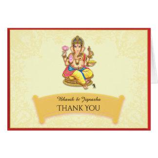 Ganesha indische Hochzeit danken Ihnen zu Grußkarte