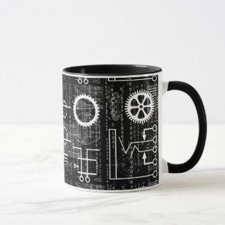 Gängereichlich Tech-inspirierte Kaffee-Tasse Tasse