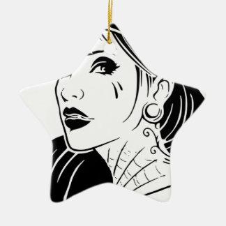 Gangster-Mädchen Keramik Ornament