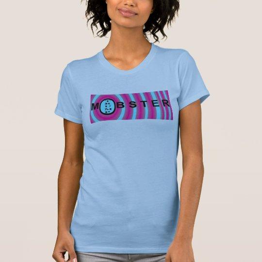GANGSTER-TRUMPF Politik Shirt-Blau/Rosa/Schwarzes T-Shirt