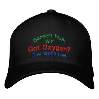 Gannett Spitze erhielt Sauerstoff? Gestickte Kappe