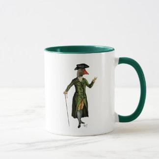 Gans in grünem Regentschafts-Mantel 2 Tasse