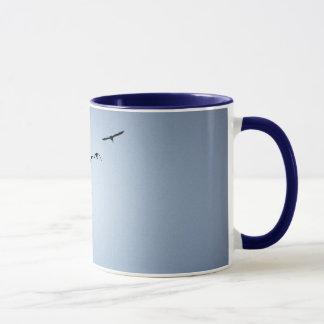 Gans-während des Betriebskaffee-Tasse Tasse