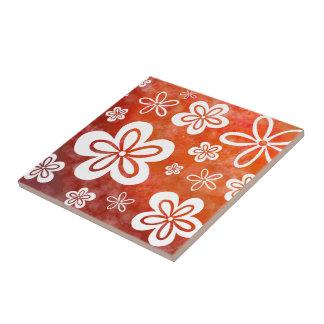 Gänseblümchen-auf-Feuer Keramikfliese