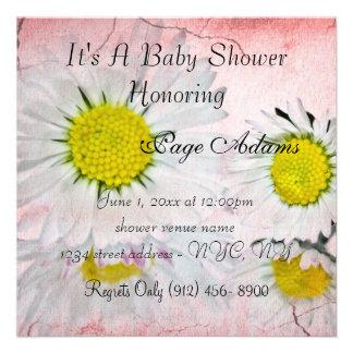 Gänseblümchen blüht Babyparty-Einladung