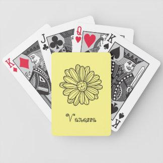 Gänseblümchen-Blume Bicycle Spielkarten