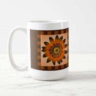 Gänseblümchen-Blume Browns Peru, Muster-Streifen - Kaffeetasse