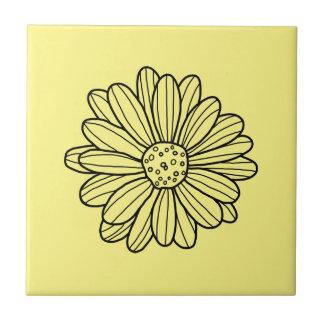 Gänseblümchen-Blume Kleine Quadratische Fliese