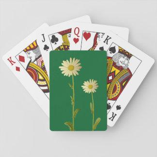 Gänseblümchen-Blumen - grüner Hintergrund Pokerkarte