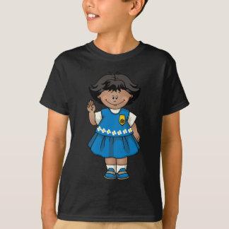 Gänseblümchen-Dunkelheits-Haut T-Shirt
