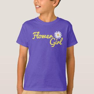 Gänseblümchen-Hochzeits-Blumen-Mädchen T-Shirt