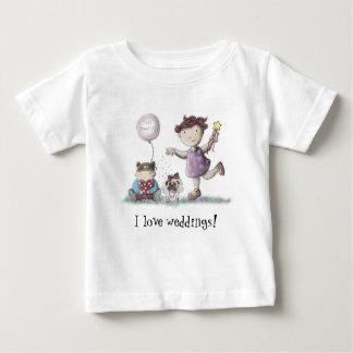 Gänseblümchen-Kuchen-Hochzeit! Baby T-shirt