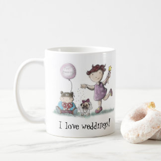Gänseblümchen-Liebe-Hochzeiten Kaffeetasse