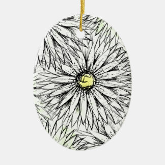 Gänseblümchen Ovales Keramik Ornament