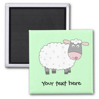 Gänseblümchen-Schafe Quadratischer Magnet