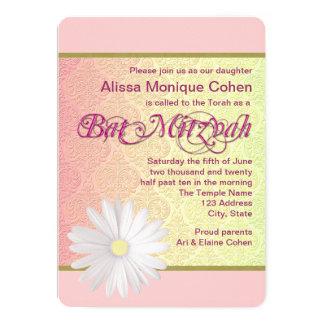 Gänseblümchen-Schläger Mitzvah 12,7 X 17,8 Cm Einladungskarte