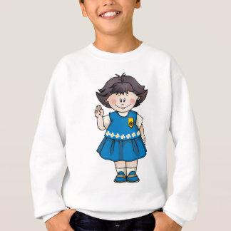 Gänseblümchen-schwarzes Haar Sweatshirt