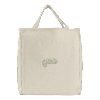 Gänseblümchen-Taschen-Deckel Bestickte Tragetasche