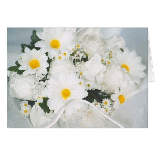 Gänseblümchenblumenstrauß Grußkarte