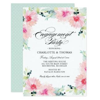 GänseblümchenWatercolor der Verlobungs-Party Karte
