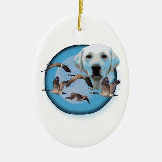 Gansjäger 3 ovales keramik ornament