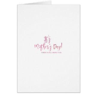 Ganz über Sie der Tag der Mutter Grußkarte
