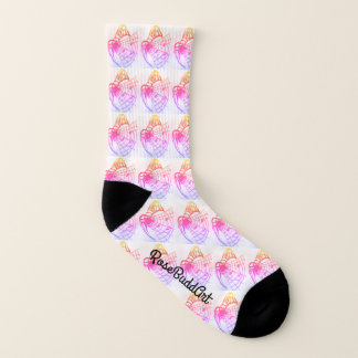 Ganz vorbei - Drucksocken, klein, Schwarzweiss Socken