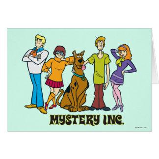 Ganze Gruppe 12 Mystery Inc Grußkarte