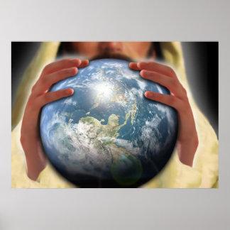 Ganze Welt in seinen Händen Poster