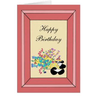 Ganzes Bündel alles Gute zum Geburtstagwünsche Karte