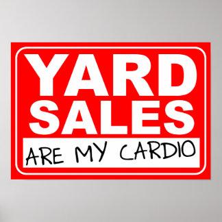 Garagenflohmarkt-Herz Plakat