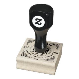 Garantie 1-Jahr-Briefmarke Gummistempel