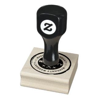 Garantie-Briefmarke Gummistempel