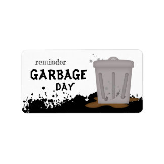 Garbage Day Planner Reminder Cleaning Label Adressaufkleber