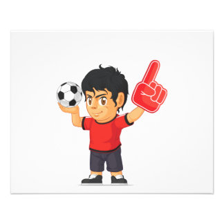 Garçon du football prospectus