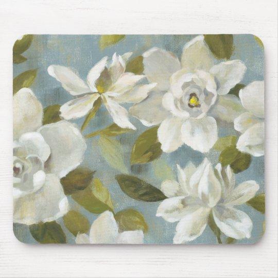 Gardenias auf Schiefer-Blau Mousepads