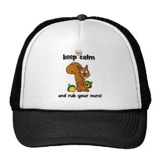 gardez le calme casquettes de camionneur