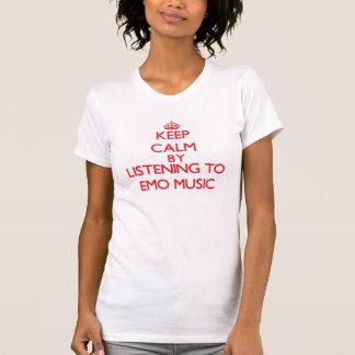 Gardez le calme en écoutant la MUSIQUE d'EMO T-shirts