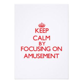 Gardez le calme en se concentrant sur l amusement invitations