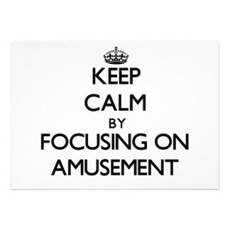 Gardez le calme en se concentrant sur l amusement faire-part personnalisables
